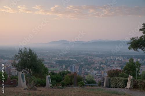 Fotografie, Obraz  Iglesias vista panoramica dal convento del buon cammino alba
