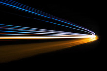 Abstract And Colorful Light Tr...