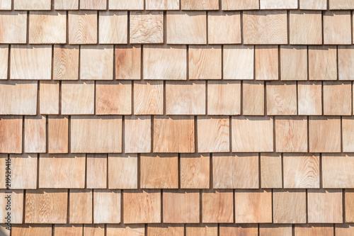 Carta da parati Shingle red cedar wooden shake wood siding row roof panel made of larch conifer