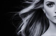 Beautiful Blonde Hair Woman Wi...