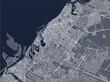 map of the city of Dubai, United Arab Emirates UAE