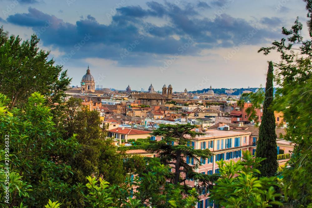 Vista Dalla Terrazza Del Pincio Villa Borghese Foto Poster