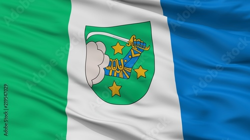 Valka City Flag, Country Latvia, Closeup View Wallpaper Mural