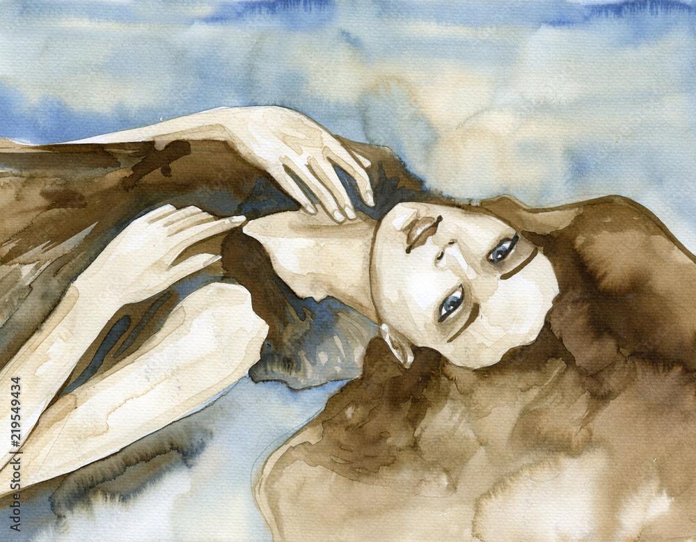 Woman watercolors.