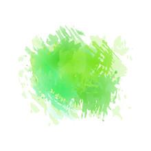 Vector Watercolor Green Splash.
