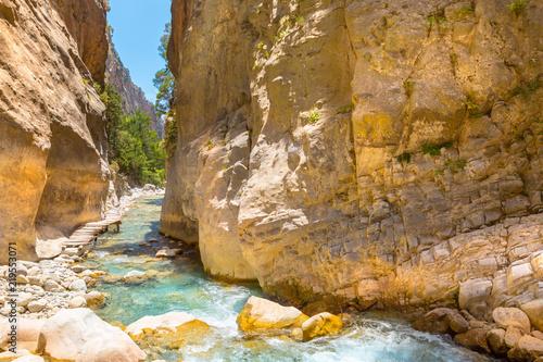 Canvas Print Passage of famous Samaria Gorge, Crete, Greece