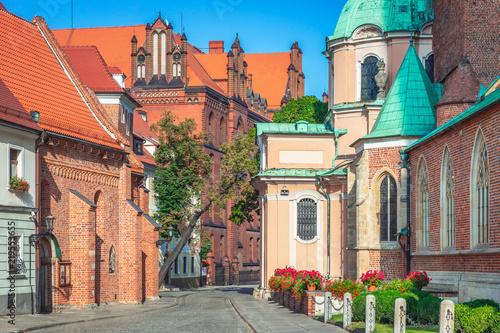 Obraz Miasto Wrocław, Ostrów Tumski, Polska - fototapety do salonu