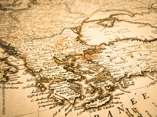 古地図 バルカン半島 Wallpaper Mural