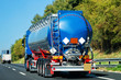Truck tanker on road in Italy