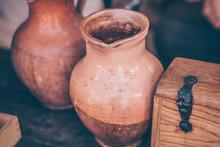 Ceramic Jug For Drinks In The Village