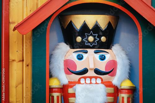 Foto op Plexiglas Kerstmis Nutcracker in Christmas Market at Alexanderplatz in Winter Berlin Germany