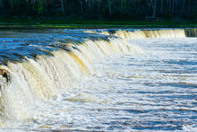 Ventas Rumba Waterfall In Kuldiga In Latvia