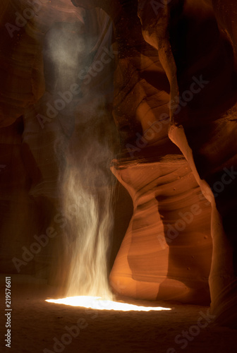Printed kitchen splashbacks Brown Rising Dust and beautiful Rock Formations in Antelope Canyon