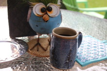 Love My Morning Coffee With My Fiber Optic Grass Haired Blue Bird