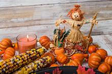 Fall Table Setting Close Up Wi...