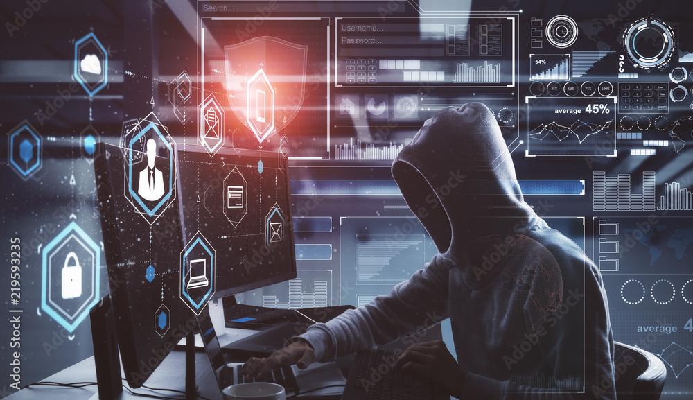 Fototapeta Hacking and phishing concept