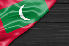Flag Of The Maldives And Place...