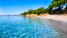 Palombaggia Beach, Corsica At Sunrise
