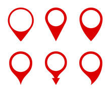 Pin Map Marker Pointer Icons S...