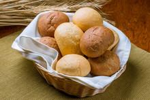 Bread Basket, Round Bread Rolls
