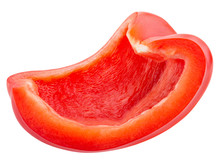 Red Pepper Slice Isolated On A White Background