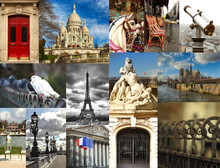 Collage Of The Fabulous Location Paris