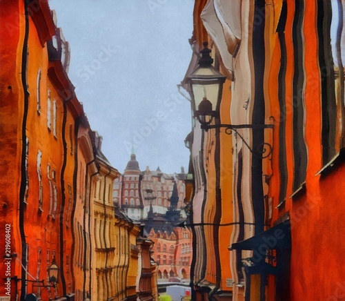 oil-painting-art-print-for-wall-decor-acrylic-artwork-big-size-poster-watercolor-drawing-modern-style-fine-art-painting-for-sale-beautiful-cityscape-wonderful-view-european-architecture