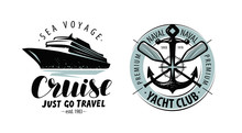Cruise, Yacht Club Logo Or Lab...