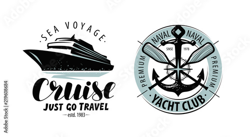 Fotografia Cruise, yacht club logo or label
