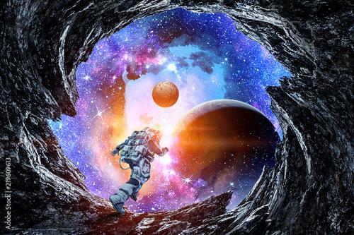 Naklejki kosmos  kosmonauta-na-obcej-planecie