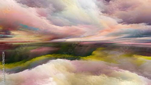Keuken foto achterwand Beige Advance of Abstract Landscape