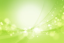 丸いボケと曲線(グリーンの背景)