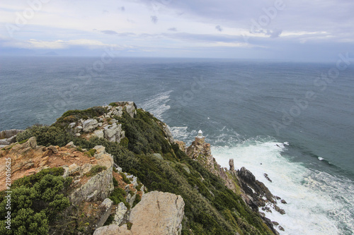 Fotografering  Cliffs by the Cape of Good Hope near Cape Town, South Africa