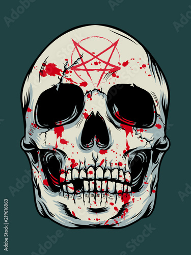 Printed kitchen splashbacks Watercolor skull Halloween skull background