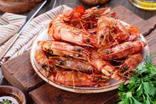 Tasty Grilled Shrimps Or Prawn...