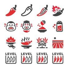 Chili Icon Set