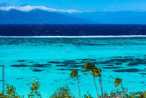 Papiers peints Turquoise Lagon de l'ile de Moorea