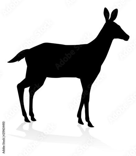 Canvas Print Deer Animal Silhouette