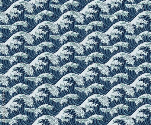 Fototapeta Wave Seamless Pattern Print