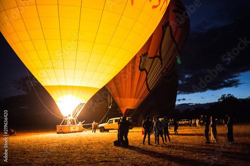 Photo  これから出発する熱気球