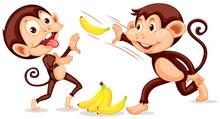 Monkey Throwing A Banana