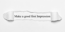Make A Good First Impression O...