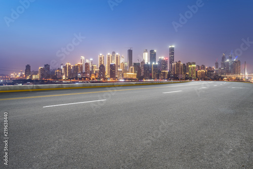 Cadres-photo bureau Batiment Urbain Road surface and skyline of Chongqing urban construction