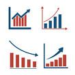 Flat graph and chart vector set