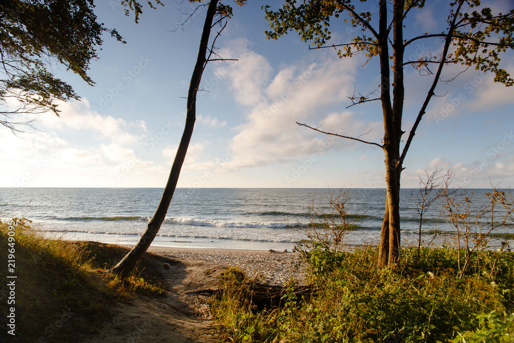 Fototapeta Morze Jastrzębia Góra fale lato polskie morze