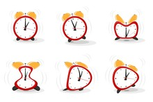 Set Of Funny Crazy Red Alarms ...
