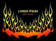 Fire Flames Vector Background Element