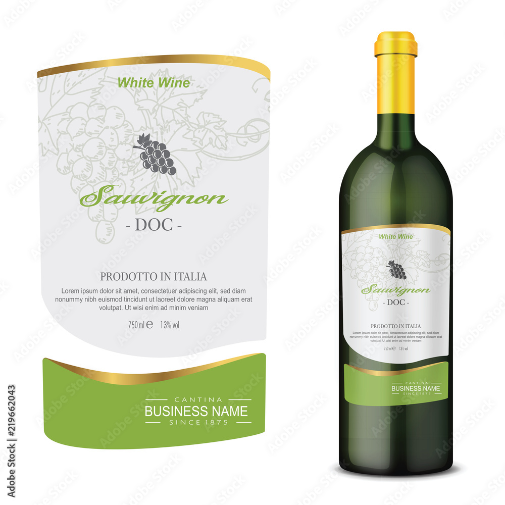 Fototapeta Vector wine label