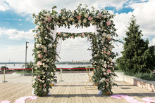 Wedding Hupa Decorated With Flowers
