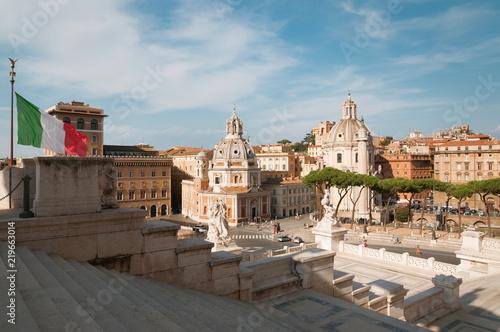 Photo  Piazza Venezia in Rome, Italy